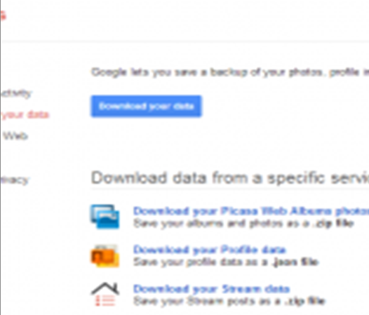 Data pada google+