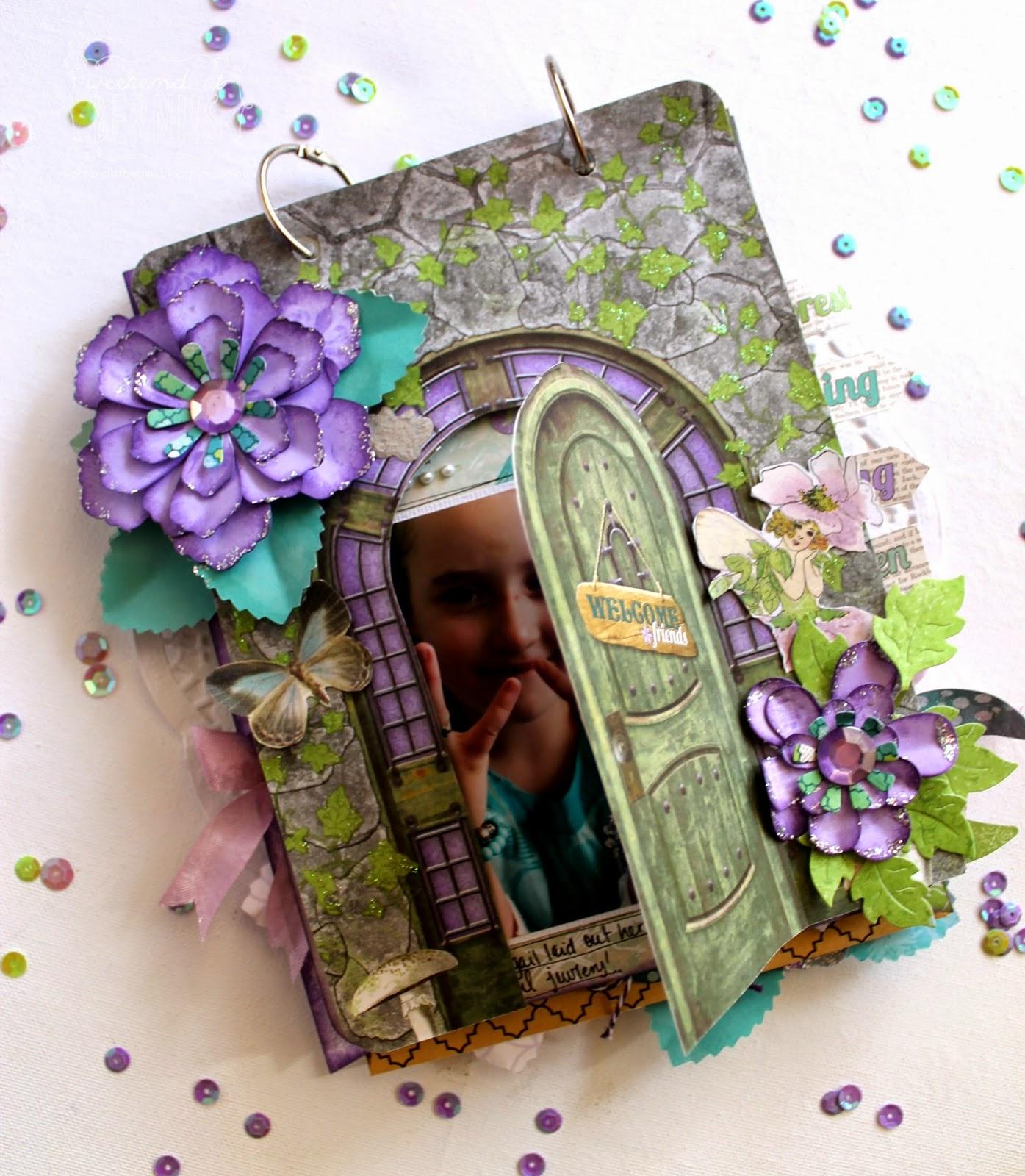"""Fairy Party"" mini album by Bernii Miller using BoBunny Enchanted Garden Collection"