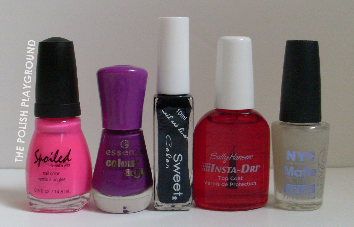 Spoiled by Wet n' Wild, Essence, Born Pretty Store, Sally Hansen, NYC