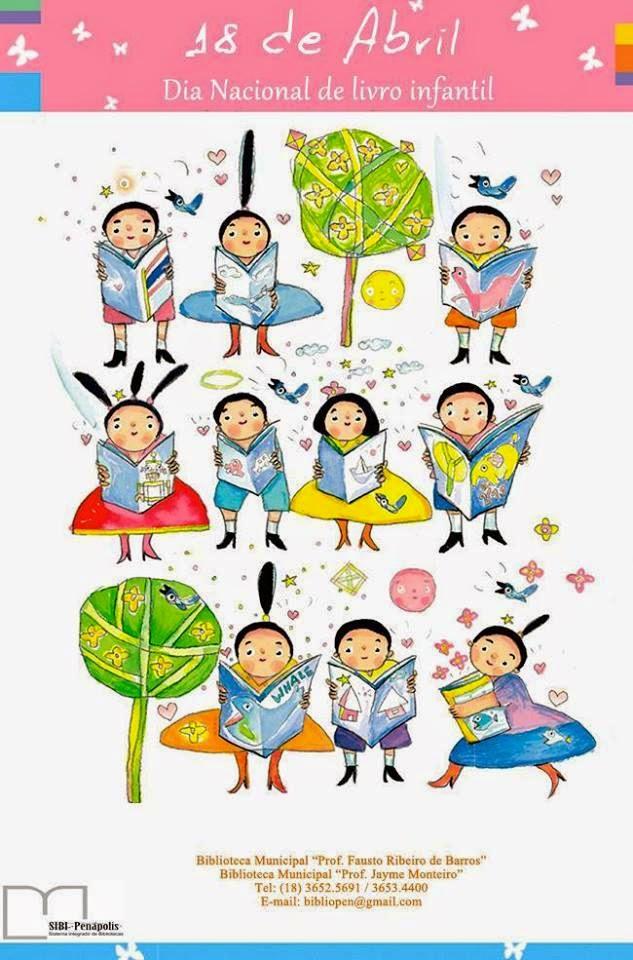 Tag 18 De Abril Dia Nacional Do Livro Infantil Frases