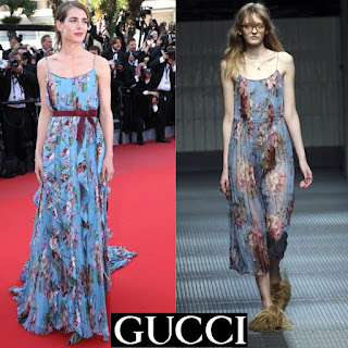 GUCCI Floral Gown Dress - Designed by Alessandro Michele- Charlotte Casiraghi