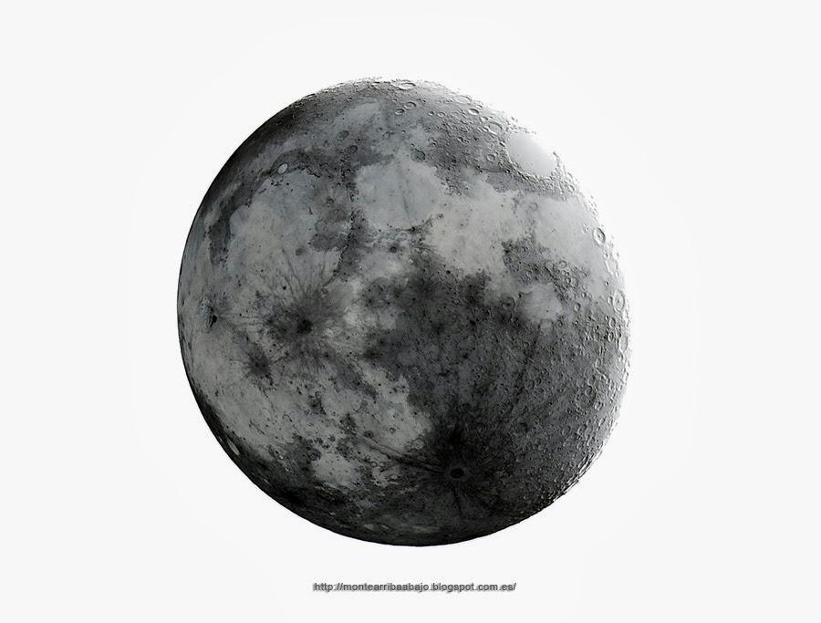 La Luna desde Gredos. Colores invertidos.