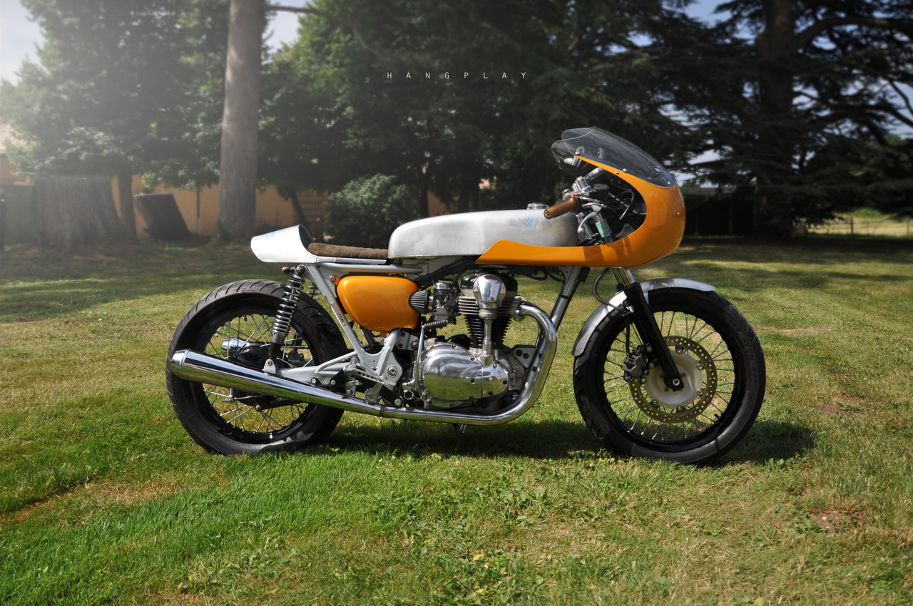kawasaki w650 racer by fcr return of the cafe racers. Black Bedroom Furniture Sets. Home Design Ideas