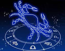 Cangrejo sobre el reloj del zodíaco