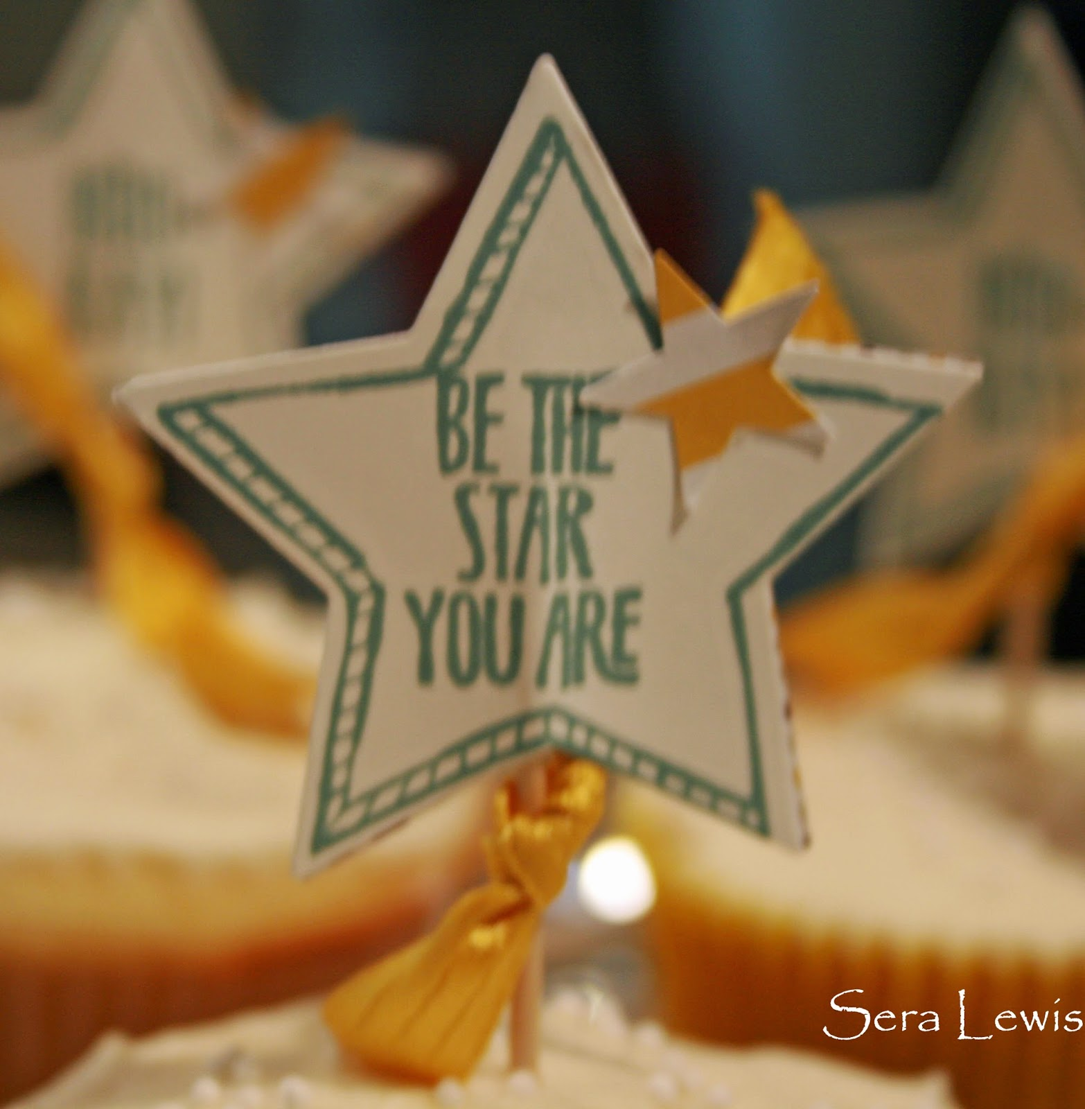 Cupcake picks that use Stampin' Up! Be the Star
