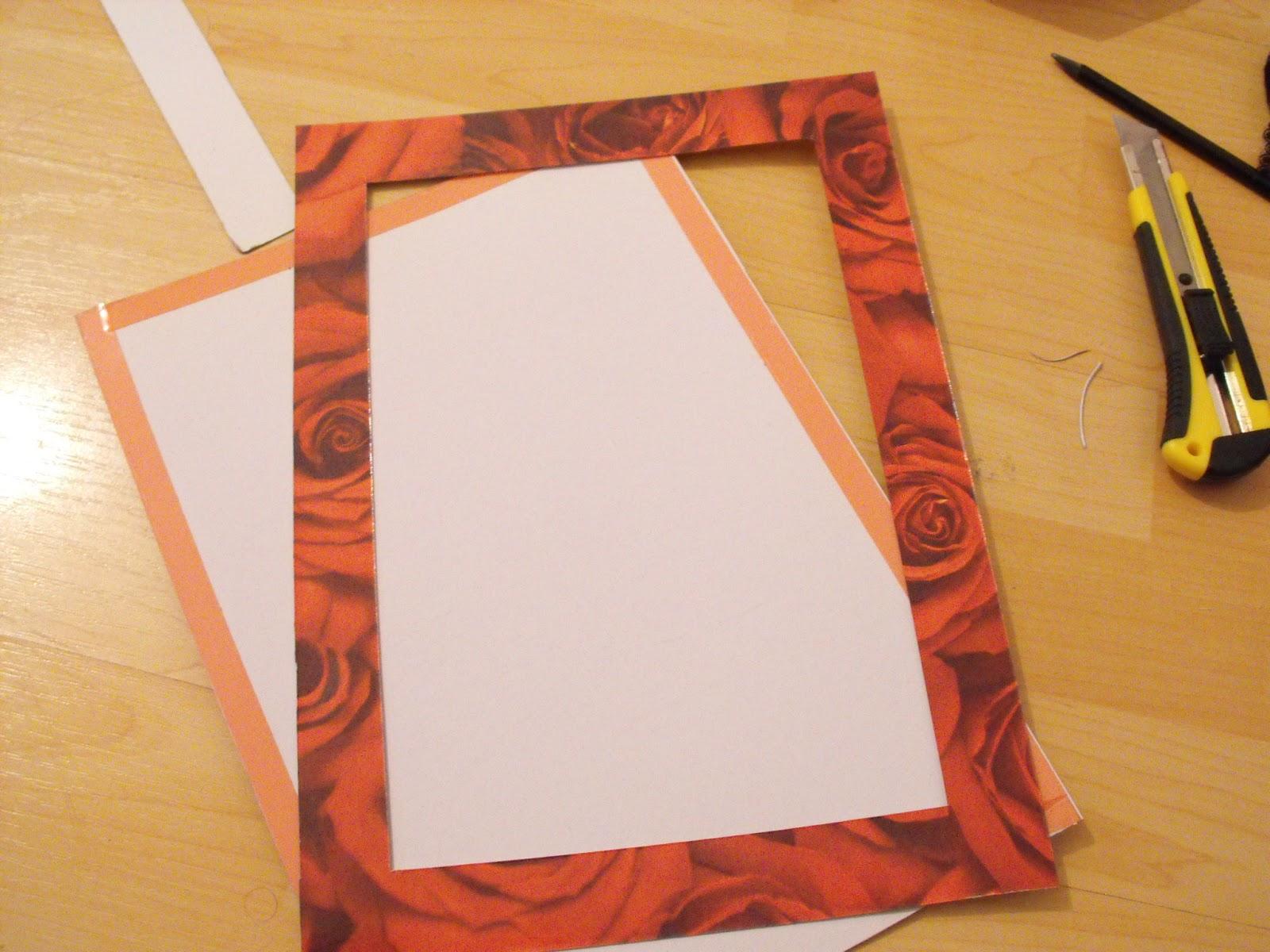die chaosprinzessin: [Anleitung] Einschub-Rahmen aus Pappe