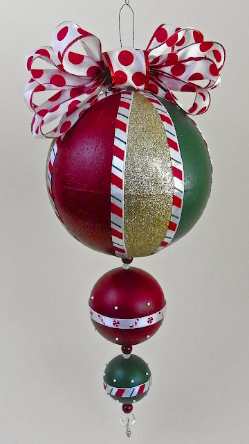 Lisa Fulmer Giant Christmas Ornament With Americana Multi Surface Paints