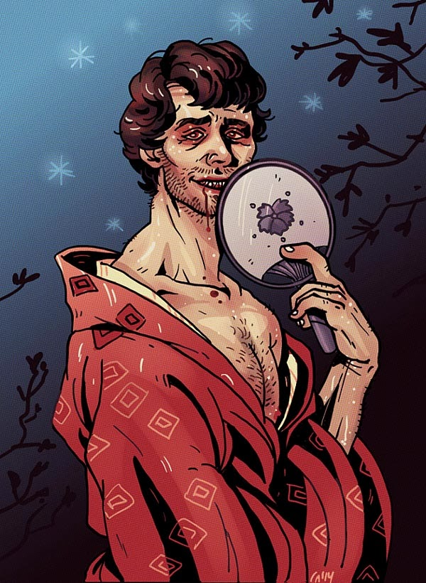 hannibal nbc fanart will graham as kumiho in Hellboy style