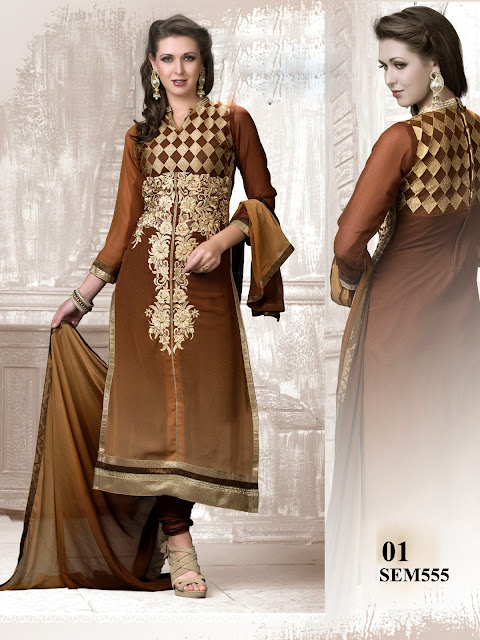 Latest Georgette Work Beautiful Long Salwar Kameez