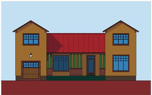 Plano de casa lujosa de 4 dormitorios y 195 metros for Casa clasica procrear 1 dormitorio