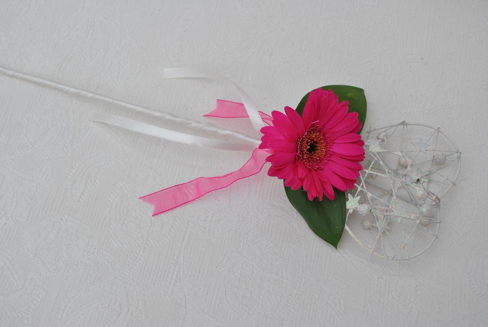 Lucy 39 s flower studio flower girl wand for Flower wand