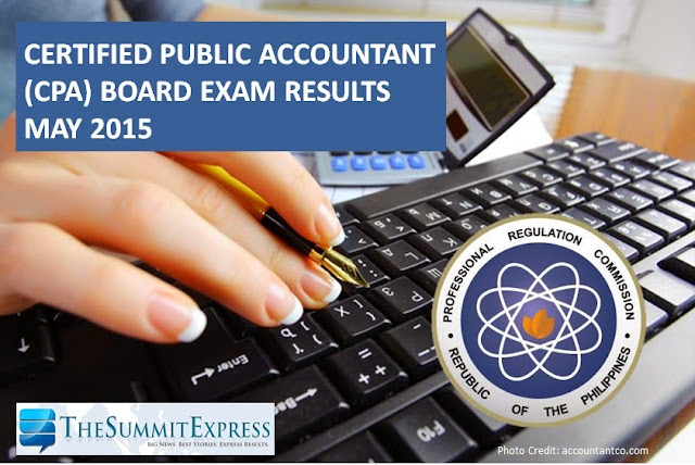 List of Passers: May 2015 CPA board exam results