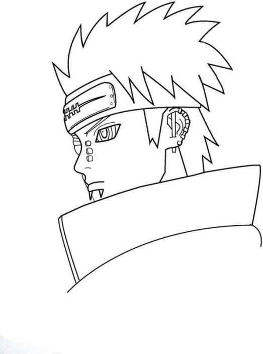 Gambar Sketsa Mewarnai Kartun Naruto Terbaru Si Gambar