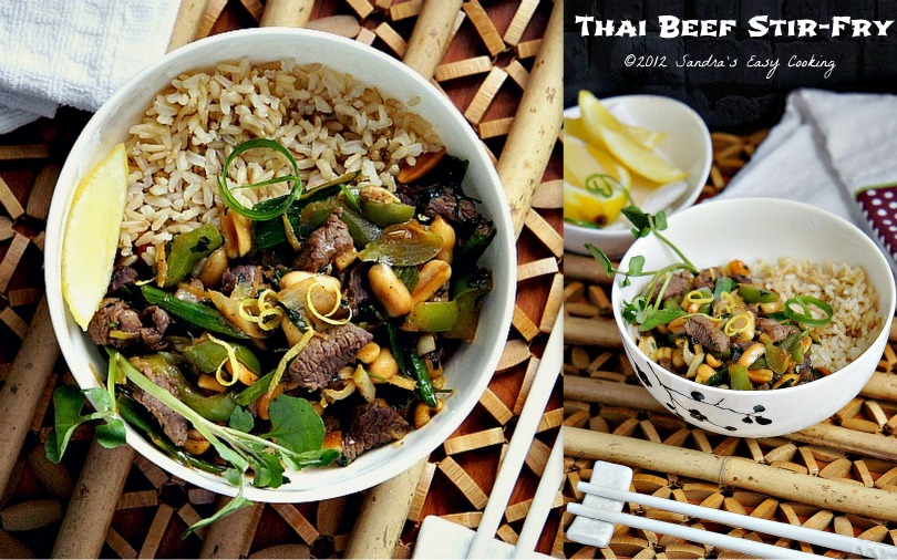 Homemade and delicious recipe for Thai Beef Stir-Fry over Brown Rice