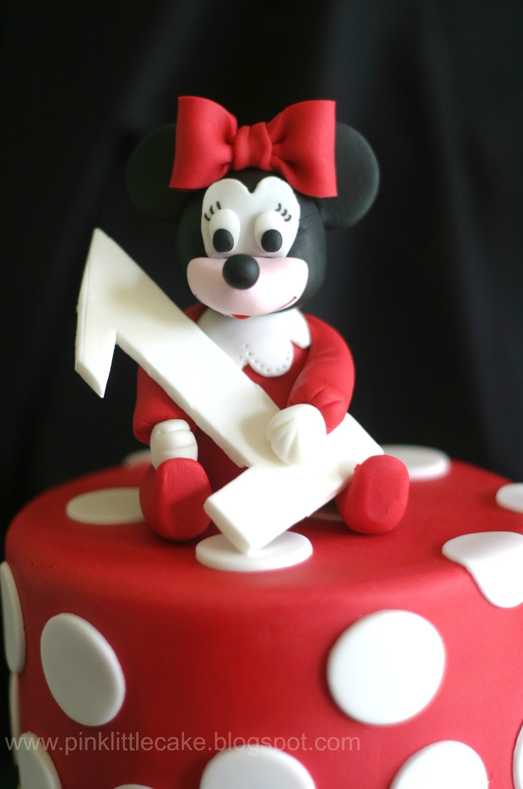 Minnie Mouse With Red PJs 1st Birthday Cake