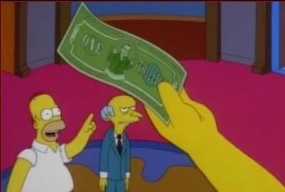 la proxima guerra señor burns billete billon de dolares simpsons homer