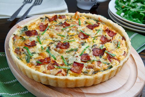 Wild Leek and Double Smoked Bacon Tart on Closet Cooking