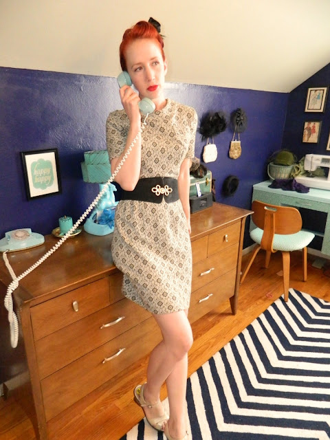 1960s wiggle dress  mad men Just Peachy, Darling
