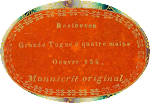 · Manuscritos musicales autógrafos de Ludwig van Beethoven