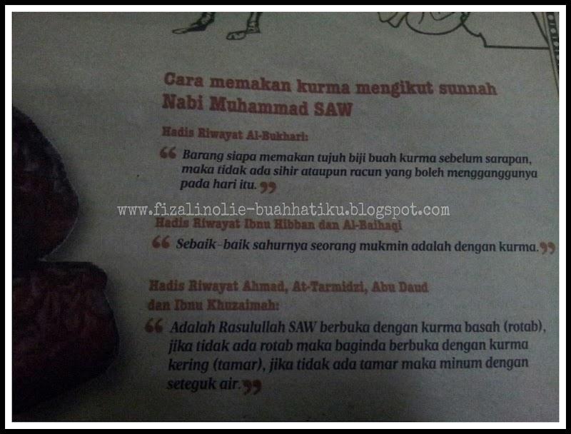 Cara Memakan Kurma Mengikut Sunnah Nabi Muhammad SAW