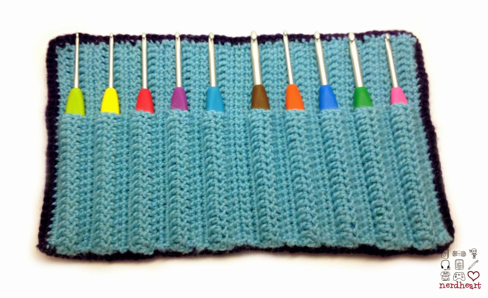 Nerdheart Crocheted Crochet Hook Case