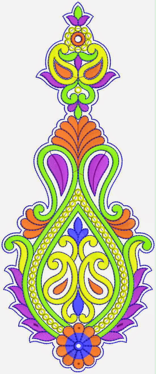 Embdesigntube latest pakistani fashion kali embroidery designs - Appliques exterieures ontwerp ...