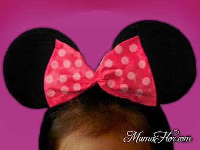 Vincha: Orejas y Moño de Minnie Mouse | Disfraz paso a paso