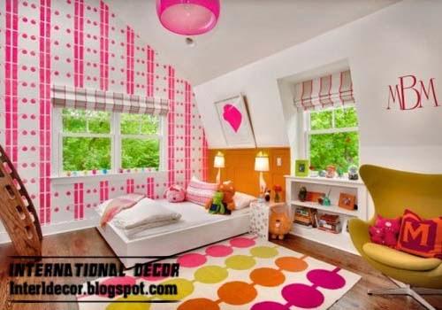 Pink Girls Room Ideas 2014 Pink Wallpaper Modern Design
