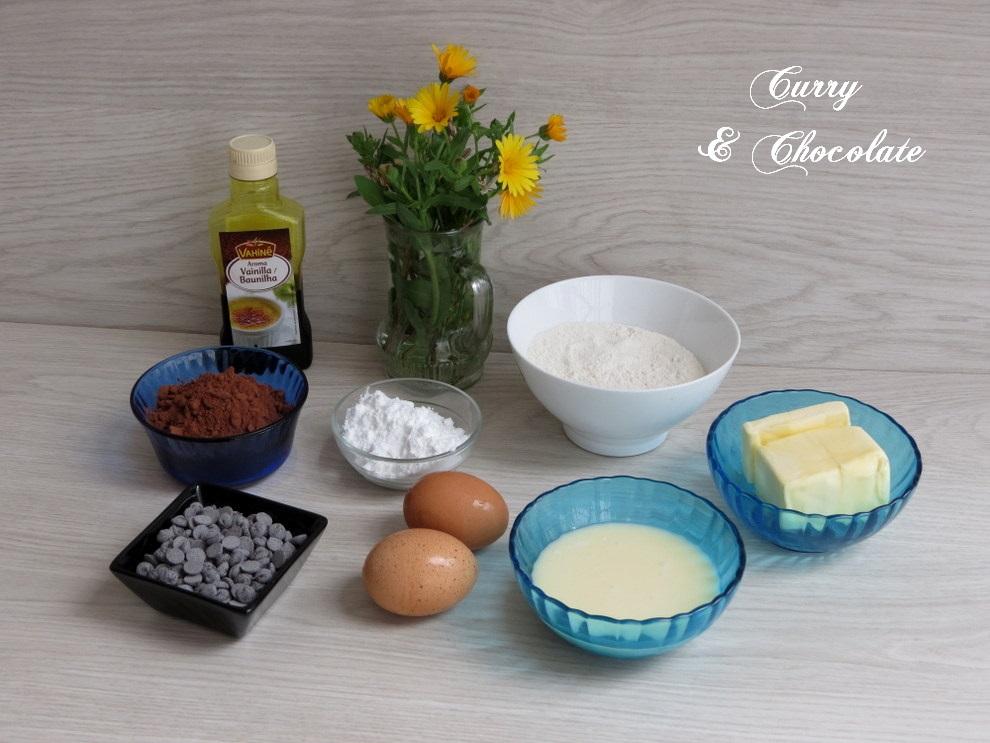 Bizcocho de leche condensada y cacao - Ingredientes
