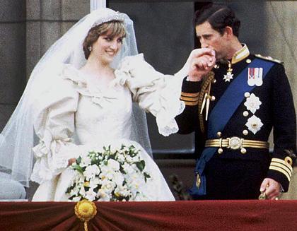 princess diana wedding dress train. Charles amp; Diana. (1981)
