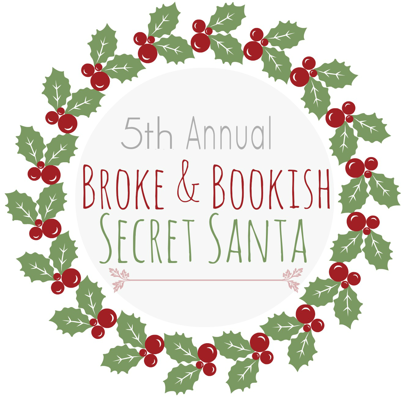 5Th Annual Broke & Bookish Secret Santa Book Swap