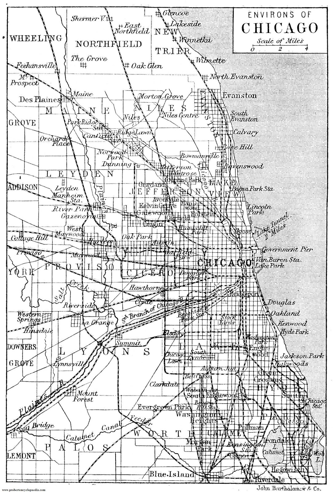 map of chicago usa