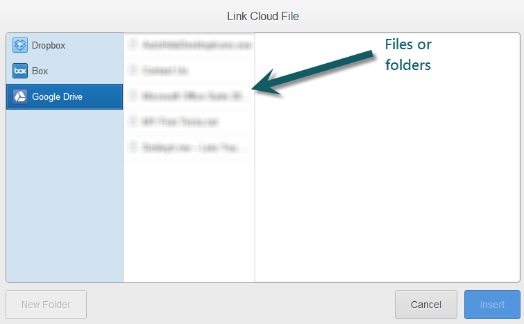 Select files or folders