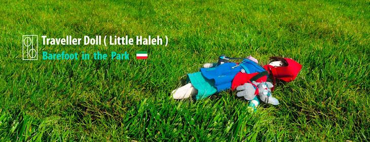 پا برهنه در پارک