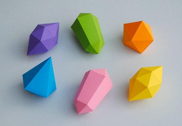 Как сделать кристалл из бумаги 3 класс
