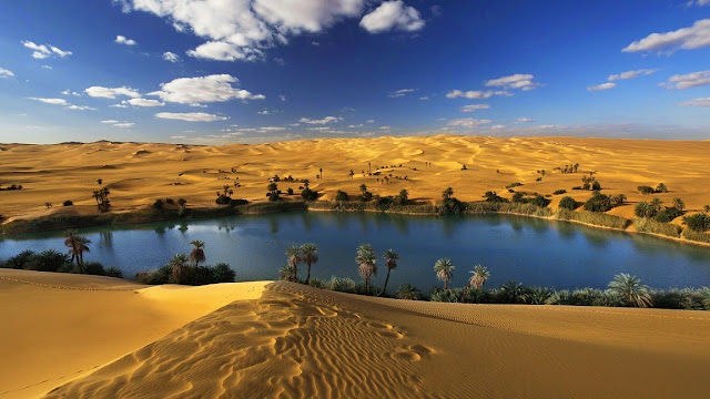 143245-Desert Oasis Water Landscape HD Wallpaperz
