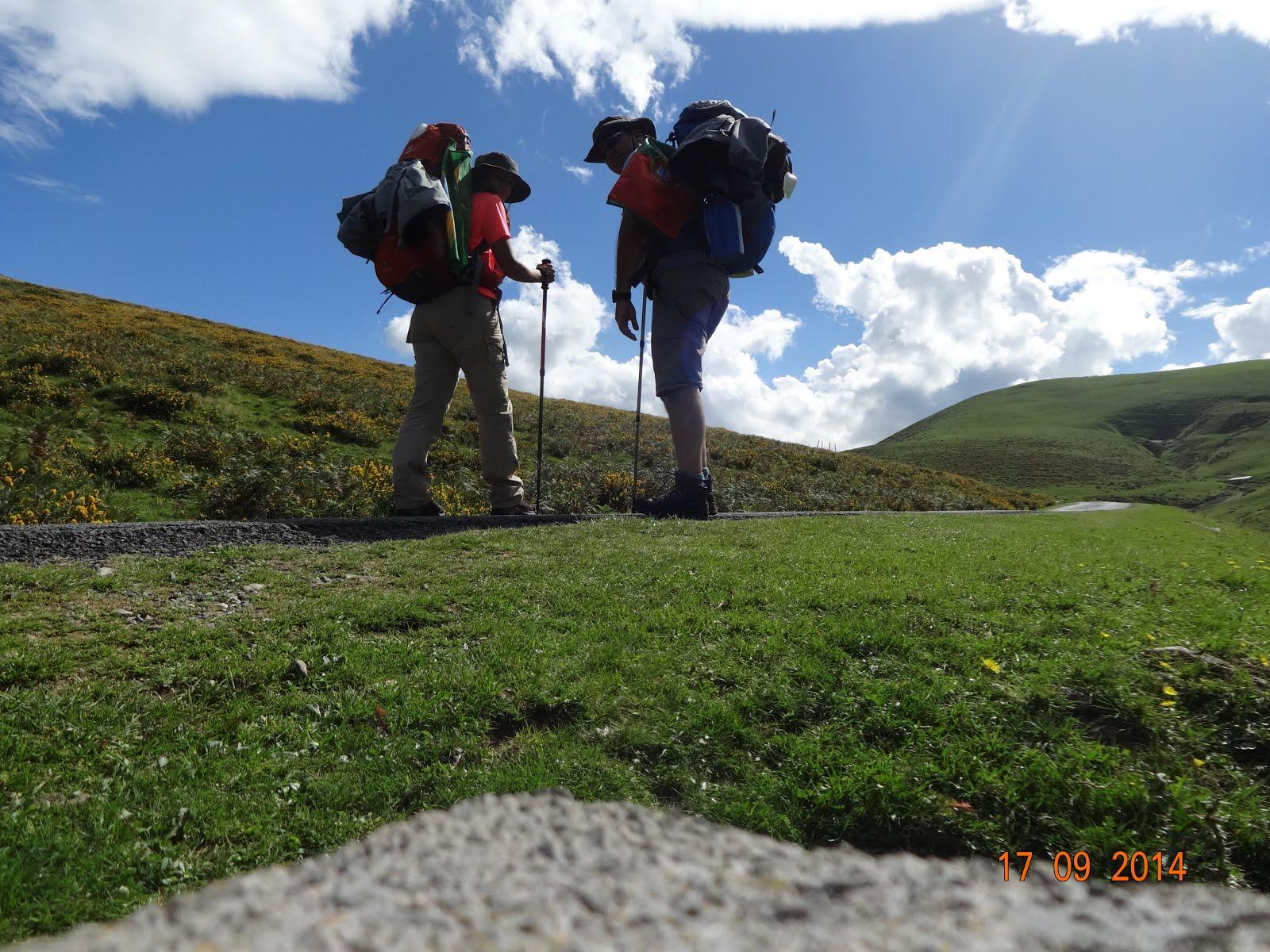Nós... Pirineus... 1ºdia do Caminho de Santiago de Compostela