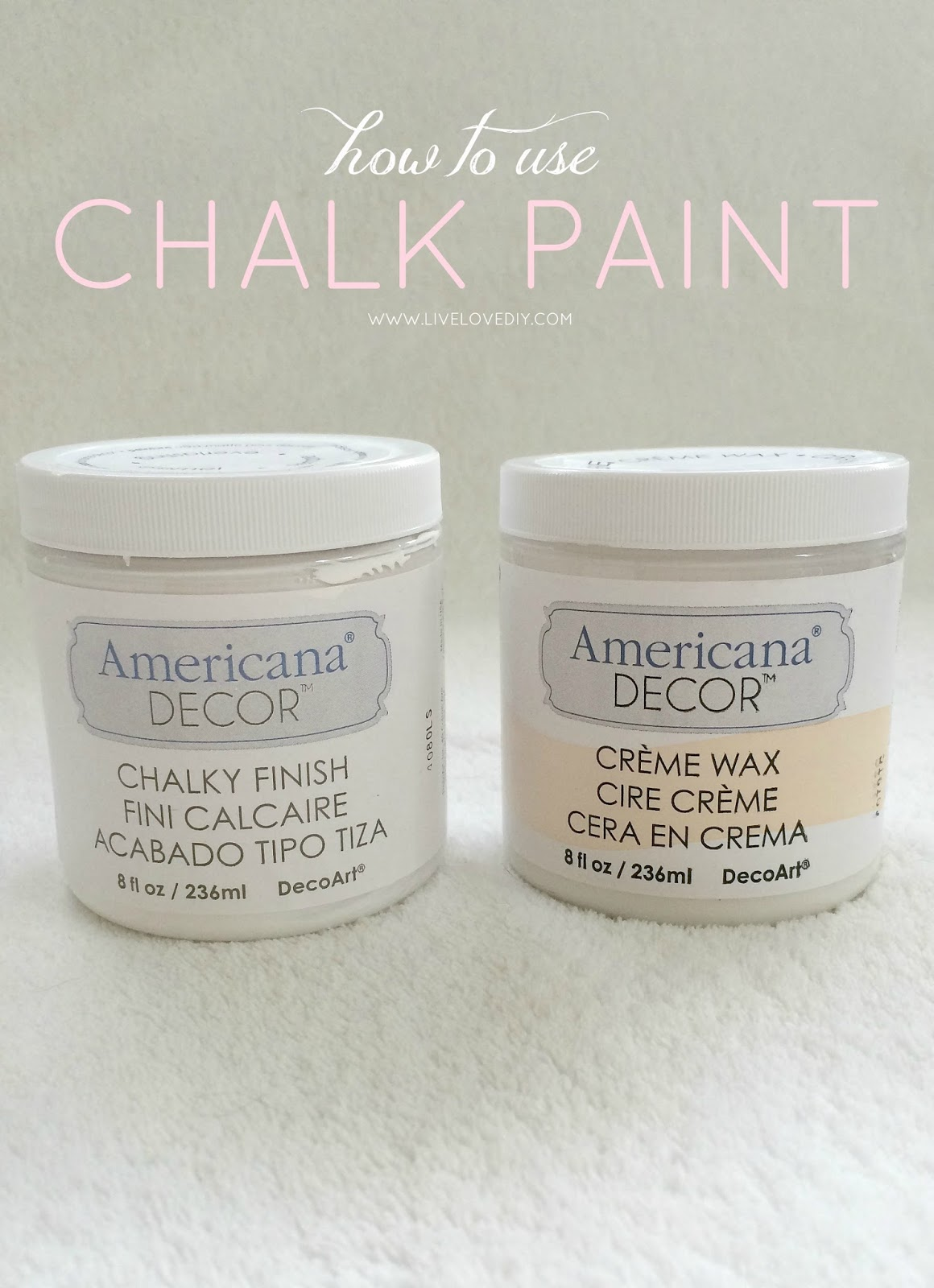How To Paint Furniture with Chalk Paint and how to