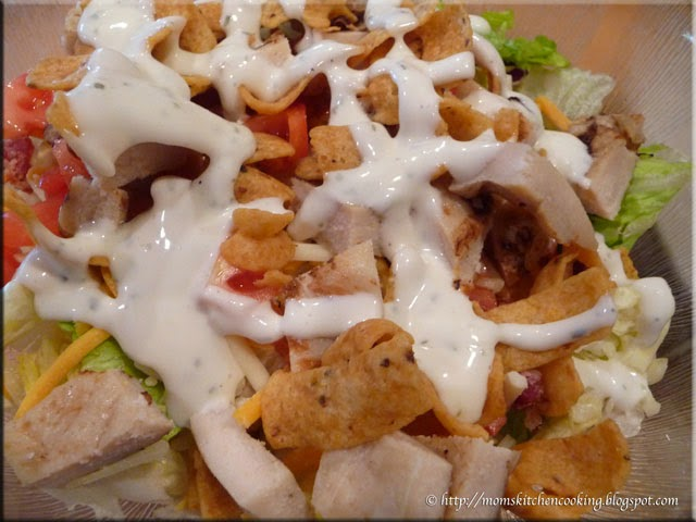 tex mex salad at the clubhouse