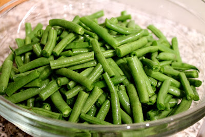 Fresh cut green beans