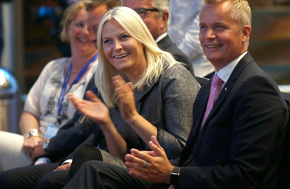 Crown Princess Mette-Marit of Norway attended the opening of the 12th National Congress of Psychology at Oslo Congress Centre