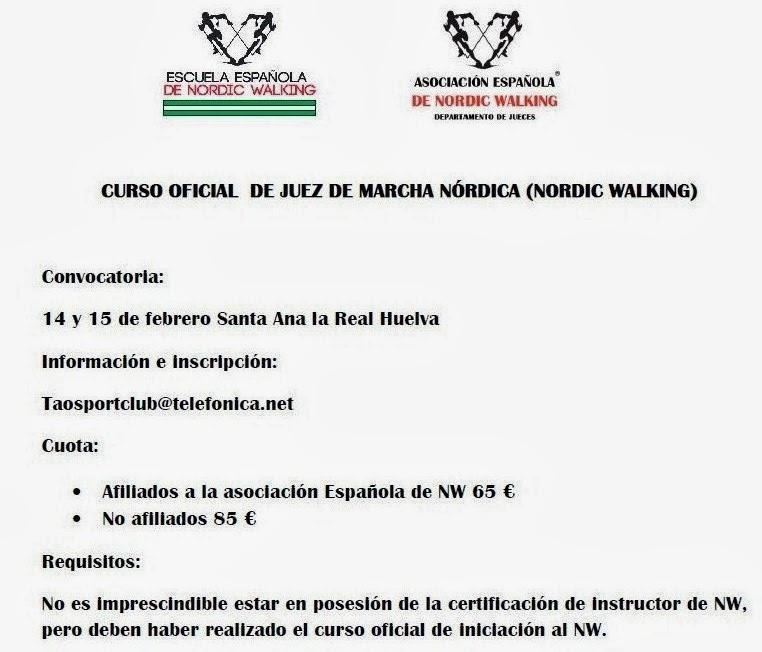 CURSO JUEZ MARCHA NÓRDICA (NORDIC WALKING)