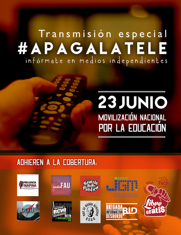 TRANSMISIÓN ESPECIAL, #APAGA LA TELE,  MOVILIZACIÓN NACIONAL POR LA EDUCACION