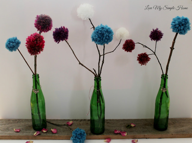 Forever blooming pom-pom bouquet