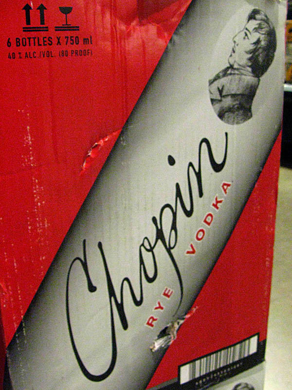 Drinks with musical names - Chopin Rye Vodka