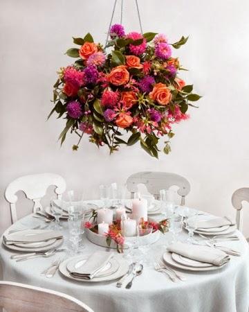 Flores en tonos naranja y rosa