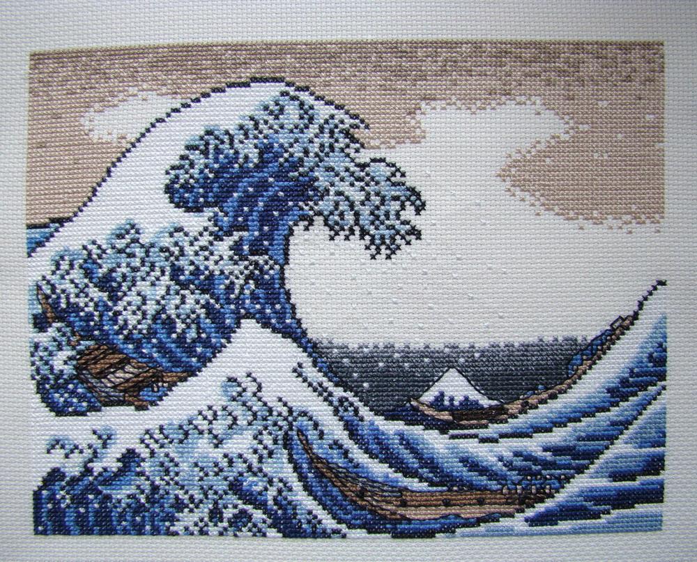 Схемы вышивки крестом волна