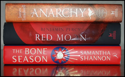 Anarchy, Red Moon and The Bone Season hardback books