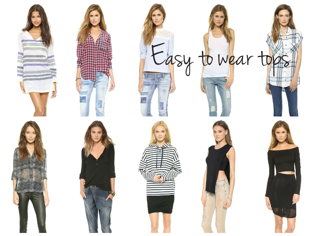 easy-to-wear tops