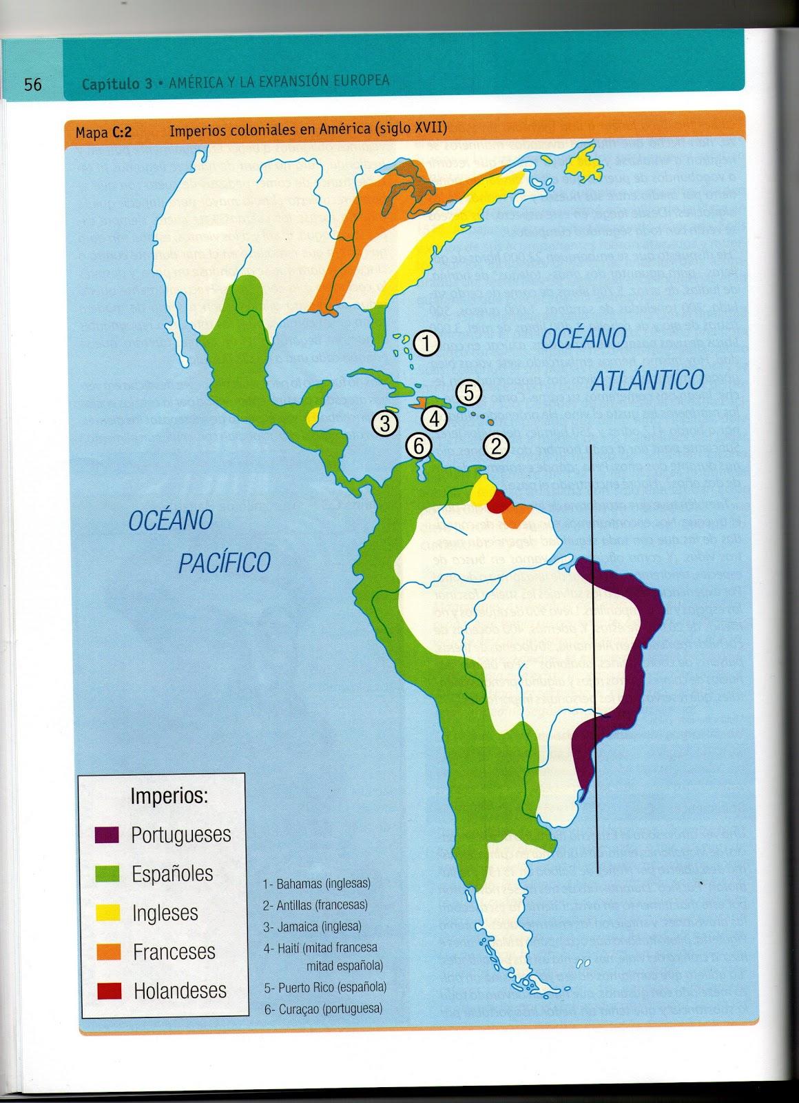 Mapa De La Colonizacion De America - Mapa de united states